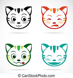 Vector image of an cat face
