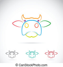Vector image of an cow face