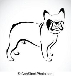 Vector image of an dog (bulldog)