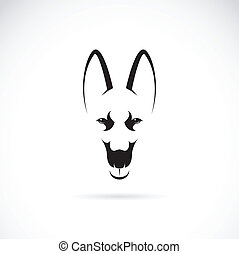 Vector image of an german shepherd face on white background