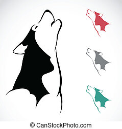 Vector image of an wolf on white background.