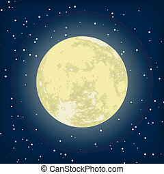 Vector image of moon in the night. EPS 8 vector file included