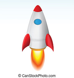 Vector Image Of The Rocket Taking Off