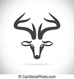 Vector images of deer head