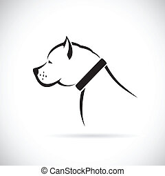 Vector images of Pitbull dog on a white background.