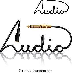vector jack connectors audio calligraphy