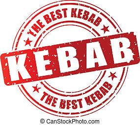 Vector kebab stamp