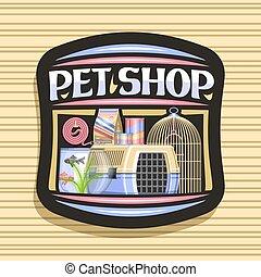 Vector logo for Pet Shop