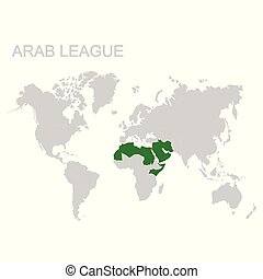 map of the Arab League