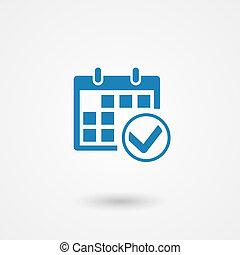 vector marks calendar icon on white background
