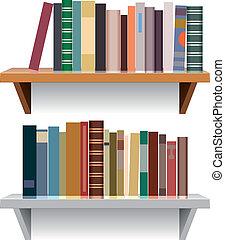 vector modern bookshelves