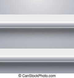 Vector modern shelf background.