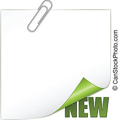 vector new corner with paperclip