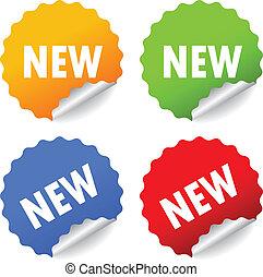 New stickers set, vector illustration