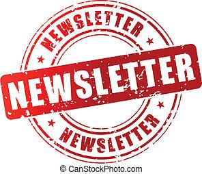 Vector newsletter stamp