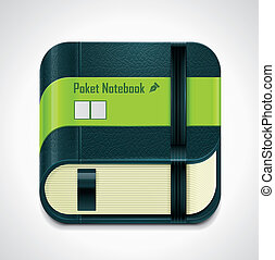 Vector notepad XXL icon
