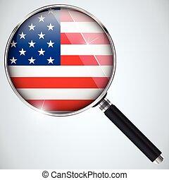 Vector - NSA USA Government Spy Program Country USA