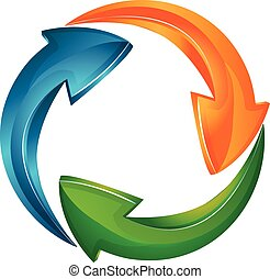 Vector of Arrows business logo