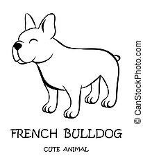 Vector of cute French Bulldog eps 10.