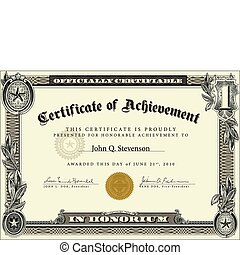 Vector highly detailed certificate. Perfect as ornate certificate. Wavy currency background pattern is included as seamless swatch. All pieces are separate. Easy to change colors and edit.