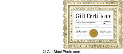 Vector Ornate Certificate Frame