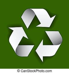 vector paper recycle symbol