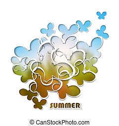Vector paper template with cut-out
