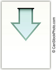 vector paper with arrow