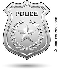 Vector Police Badge isolated on white background