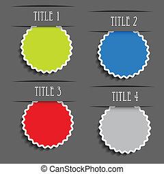 Vector presentation labels for advertising text - illustration