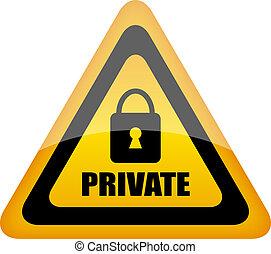 Vector private sign illustration