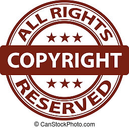vector pure copyright stamp