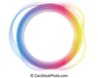 Vector - Rainbow Circle Border Brush Effect.