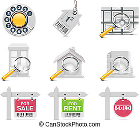 Vector real estate icons. P.3