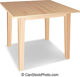 vector realistic wooden table on awhite background