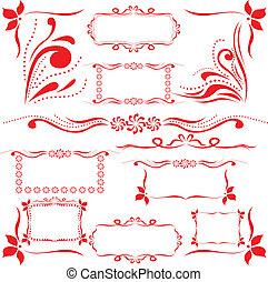 red set of design elements