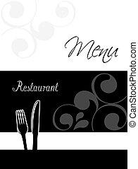 restaurant menu design - template brochure