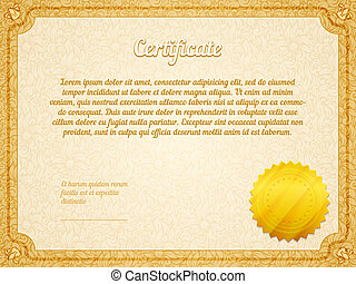 Vector retro frame certificate template