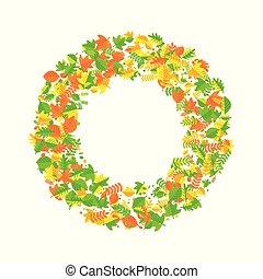 wreath of autumn leaves