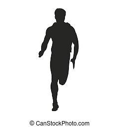Vector running man silhouette