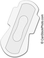 vector sanitary napkin night use