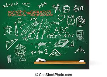 vector school blackboard illustration
