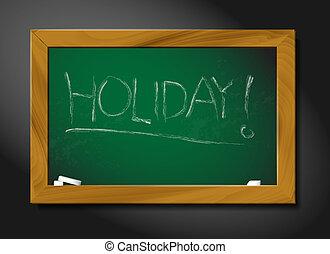 Vector school blackboard illustration - holiday