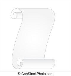 vector scroll banner