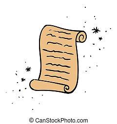 Vector Scroll Doodle