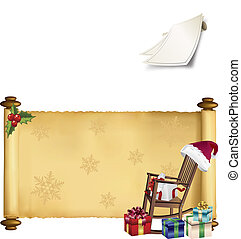vector scroll with christmas motive