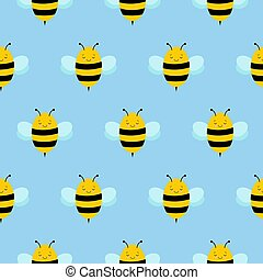 vector seamless graphical minimalstic flying bee pattern, modern background allover print with insects