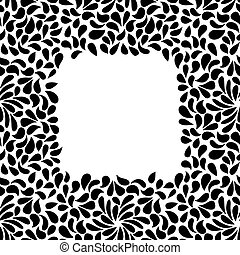 Vector seamless painted frame shape pattern, hand drawn abstract drops