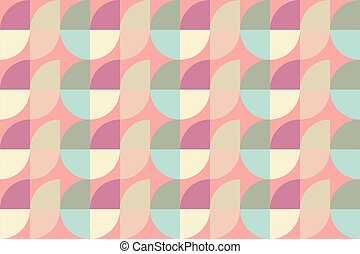Vector seamless pattern background with shapes.