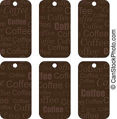 brown tags with coffee